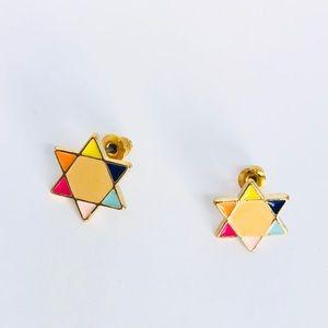 New! Multicolored Star Stud Earrings